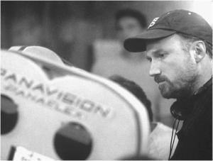 El director David Fincher, cámara en mano