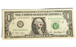 Dollarbill With Red Nose