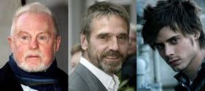 Derek Jacobi, Jeremy Irons y François Arnaud