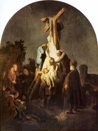 """El dramatismo de """"El descendimiento"""", de Caravaggio, también está presente en la homónima pintura de Rembrandt"""