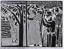 Las alegorías de John Muafangejo tienen un componente narrativo importante. Copyright: John Muafangejo