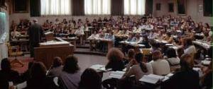 La acción reproducía también los problemas de los alumnos, personificados en James T. Hart y sus amigos