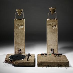 "Ron Arad, ""Concrete Stereo"", 1983. Stereo system set in concrete"