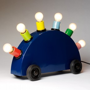 """Martine Bedin (for Memphis), """"Super lamp prototype"""", 1981. Painted metal with lighting components"""