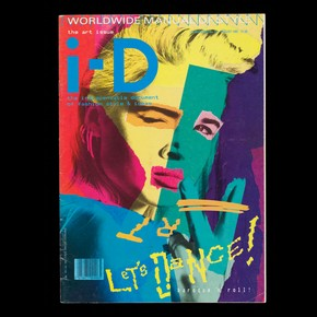 i-D, no 28. The Art Issue, August 1985. Styled by William Faulkner, design by Terry Jones, photograph by Nick Knight, featuring Lizzy Tear