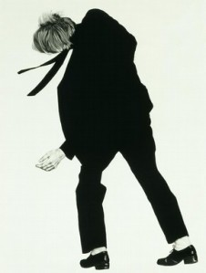 'Untitled (Joe)', charcoal and pencil on paper by Robert Longo, from the 'Men in the City' series, 1981