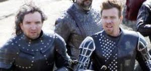 """El actor escocés (derecha) protagoniza el filme """"Jack, el gigante asesino"""""""