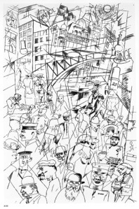 """Fredrichstrasses, 1918"", de George Grosz. Photo Credits: Vegap"