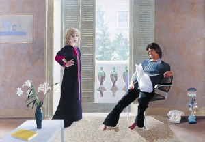 "David Hockney, ""Mr and Mrs Clark and Percy"" 1970-1/ Photo Credits: David Hockney"
