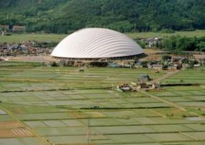 Dome in Odate, multipurpose dome, 1993-1997, Odate-shi, Akita, Japan/ Photo Credits: Mikio Kamaya